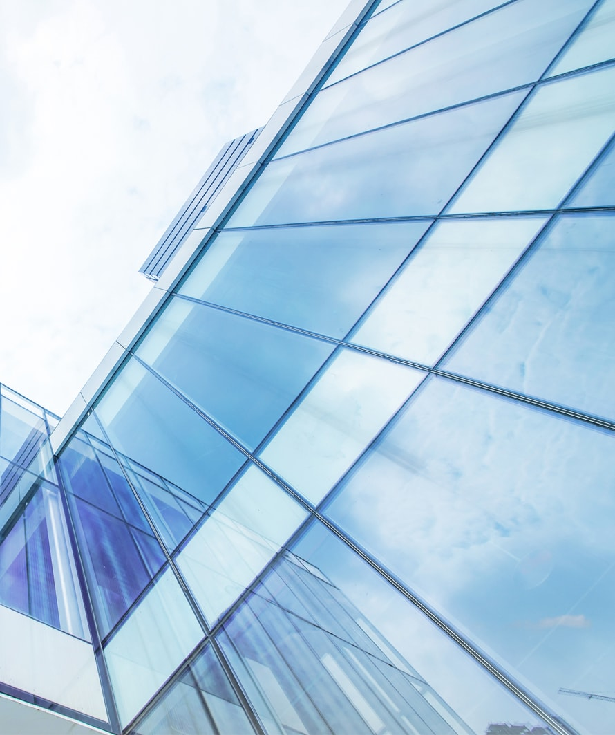 fachadas de vidrio templado